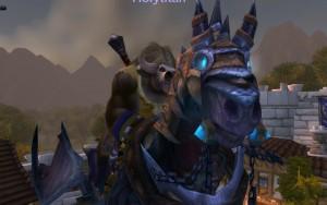 Looking at something? Moooo away! Holytitan..? riding Invincible!